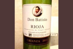 Отзыв о вине Don Batisto rioja 2013