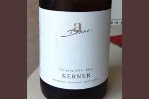 Отзыв о вине Kerner A-Diehl 2014