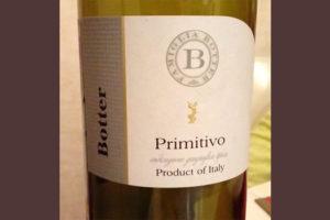 Отзыв о вине Primitivo Botter 2014