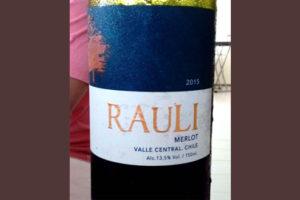 Отзыв о вине Rauli merlot 2015