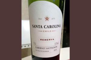 Отзыв о вине Santa Carolina 2011