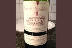 Отзыв о вине Tour de Mandelotte rouge 2013