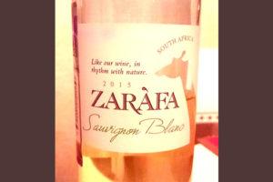 Отзыв о вине Zarafa sauvignon blanc 2015