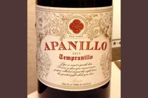 Отзыв о вине Apanillo tempranillo 2013