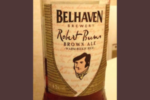 Отзыв о пиве Belhaven Robert Burns brown ale