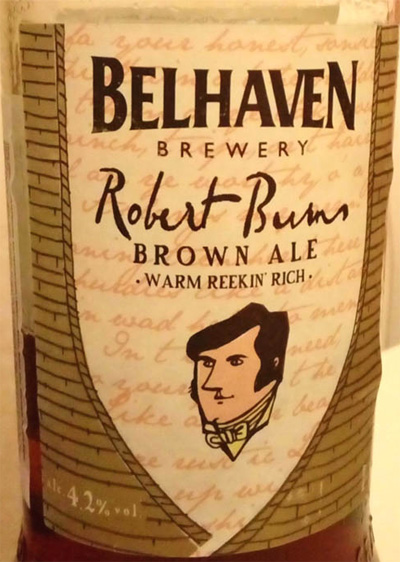 Belhaven_Robert_Burn_brown_ale_label