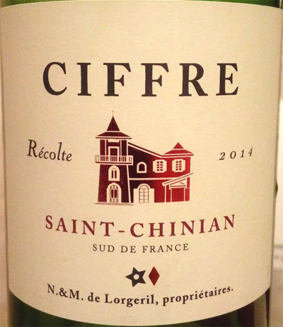 Ciffre_Saint-Chinian_2014_label