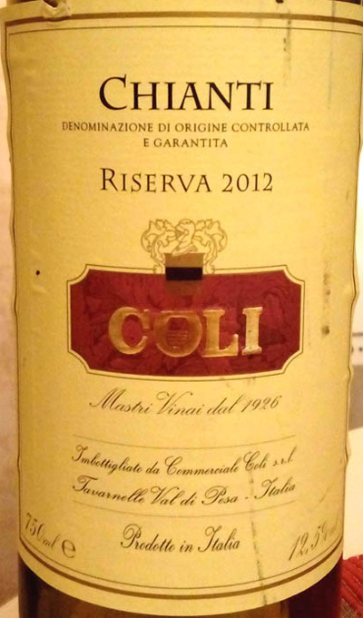Coli_Chianti_reserva_2012_label