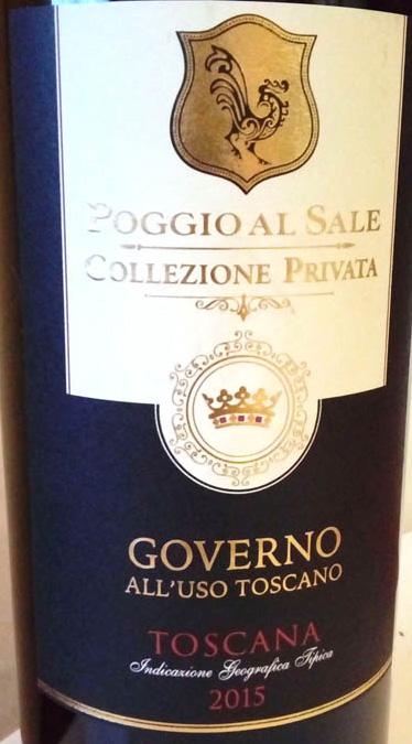 Governo_all'uso_Toscano_2015_collezione_privato_(Poggio_al_Sale)_label
