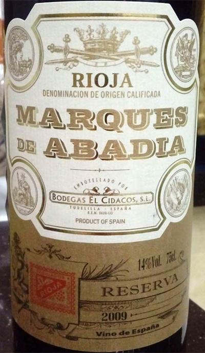 Marques_de_Abadia_reserva_2009_label