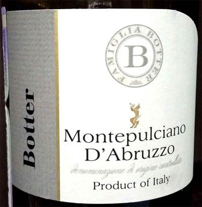 Montepulciano_d'Abruzzo_Botter_2014_label