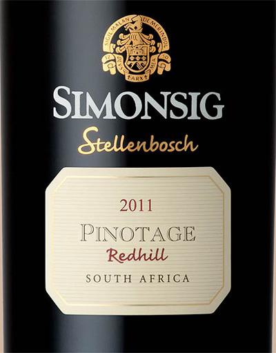 Simonsig_Stellenbosch_Redhill_pinotage_2011_label