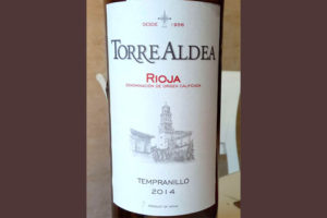 Отзыв о вине Torre Aldea tempranillo 2014