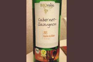 Отзыв о вине Biorebe cabernet sauvignon 2015