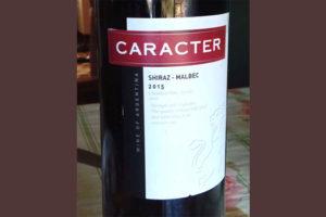Отзыв о вине Caracter siraz malbec 2015
