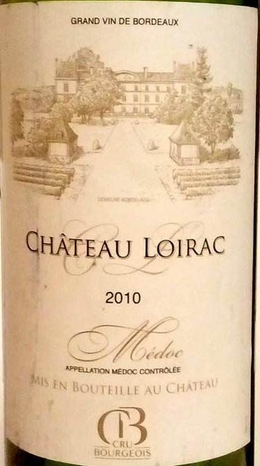Отзыв о вине Chateau Loirac 2010