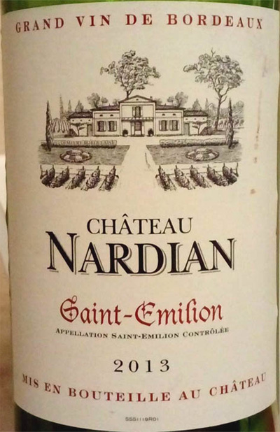 Отзыв о вине Chateau Nardian 2013