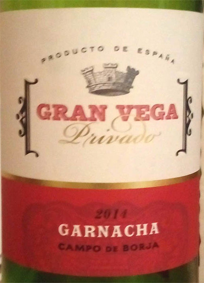 Отзыв о вине Gran Vega garnacha 2014