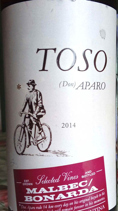 Отзыв о вине Toso don Aparo malbec bonarda 2014