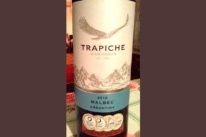 Отзыв о вине Trapiche malbec 2015