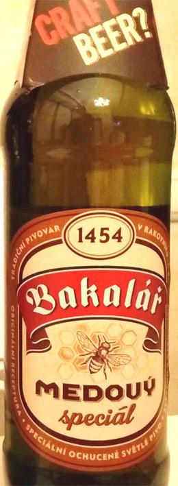 Отзыв о пиве Bakalar medovy spicial