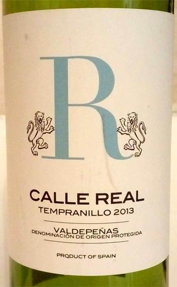 Отзыв о вине Calle Real tempranillo 2015