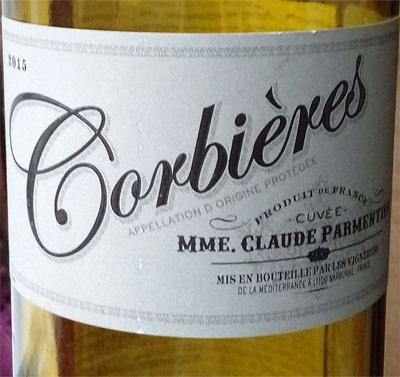 Отзыв о вине Corbieres Mme Claude Parmentier 2015