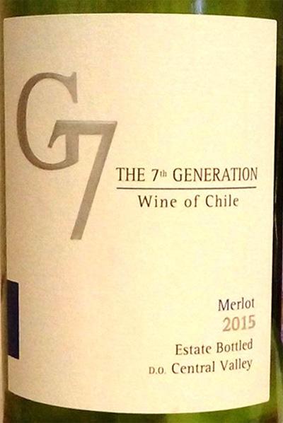 Отзыв о вине G7 merlo 2015