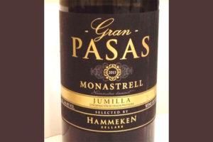 Отзыв о вине Gran Pasas Monastrell 2013