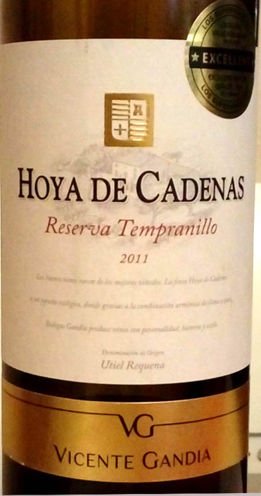 Отзыв о вине Hoya de Cadenas reserva Tempranillo 2011