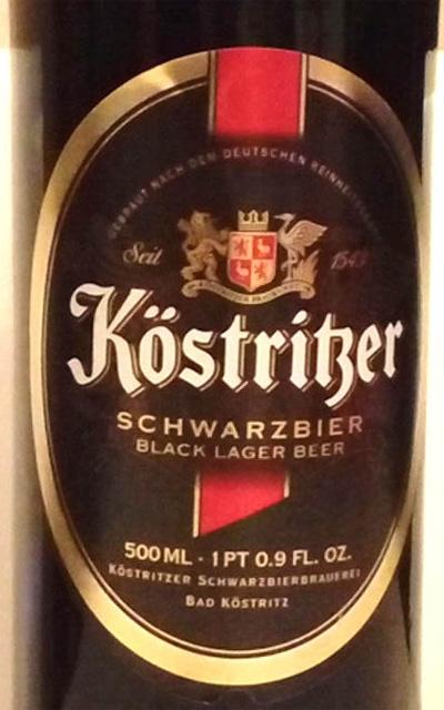Отзыв о пиве Kostritzer schwarzbier