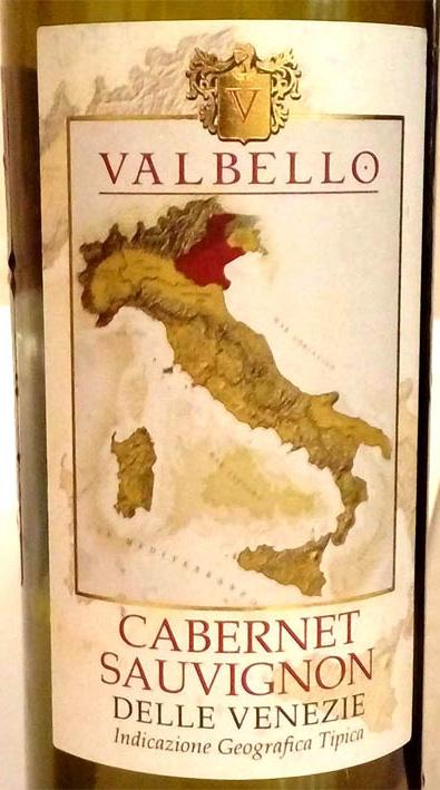Отзыв о вине Valbello Cabernet Sauvignon 2014