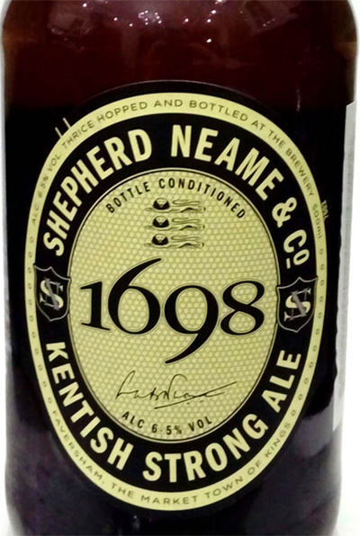 Отзыв о пиве 1698 Kentish strong ale