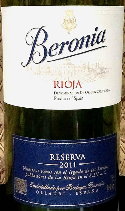 Отзыв о вине Beronia reserva 2011