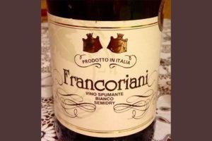 Отзыв об игристом вине Francoriani spumante semidry 2015