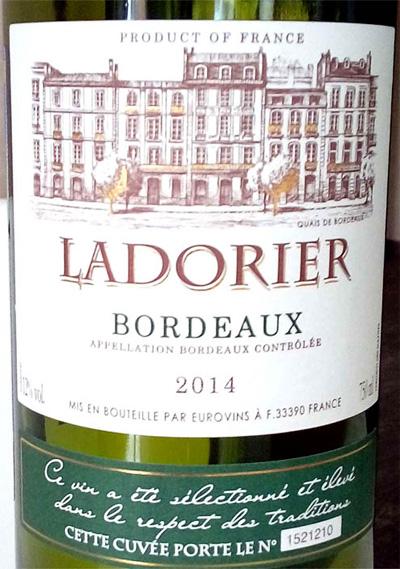 Отзыв о вине Ladorier blanc 2014