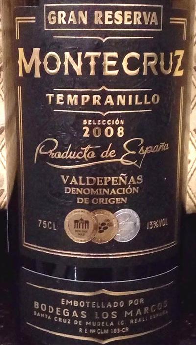 Отзыв о вине Montecruz gran reserva tempranillo 2008
