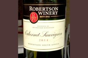 Отзыв о вине Robertson Winery cabernet sauvignon 2014