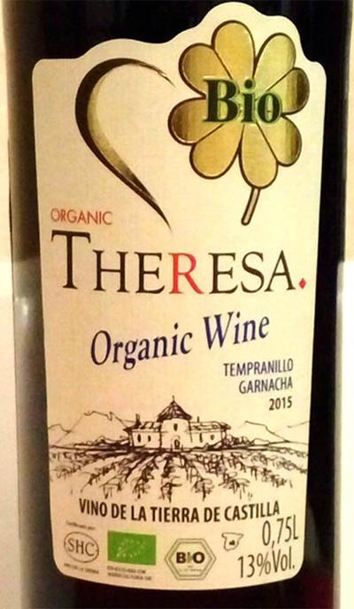 Отзыв о вине Theresa organic tempranillo garnacha 2015