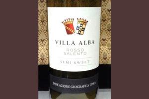 Отзыв о вине Villa Alba rosso salento 2015