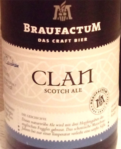 Отзыв о пиве Clan scotch ale kraft