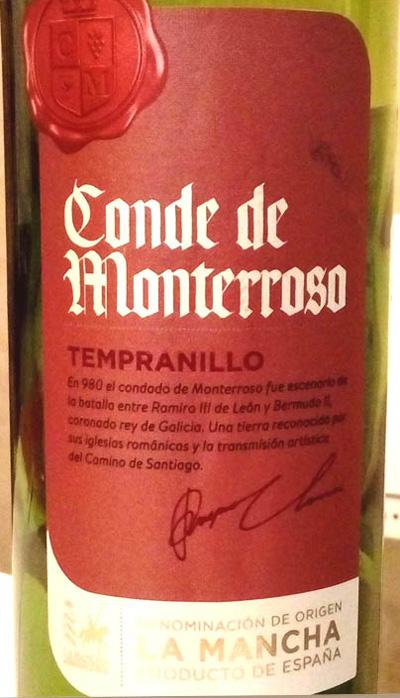 Отзыв о вине Conde de Monterroso tempranillo 2016