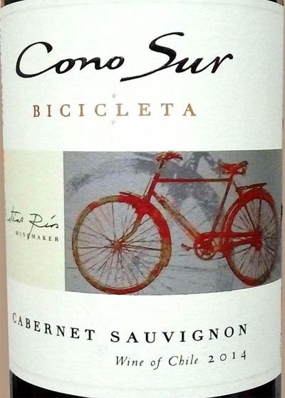 Отзыв о вине Cono Sur bicicleta cabernet sauvignon 2014