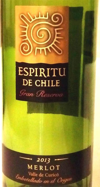 Отзыв о вине Espritu de Chile Merlot gran reserva 2013