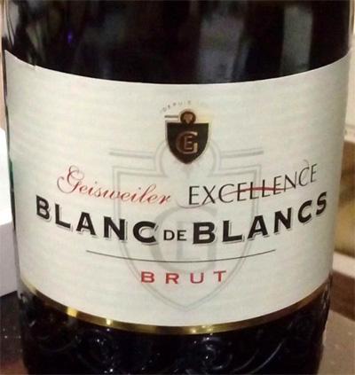 Отзыв об игристом вине Geisweiler Excellence blanc de blancs brut 2015