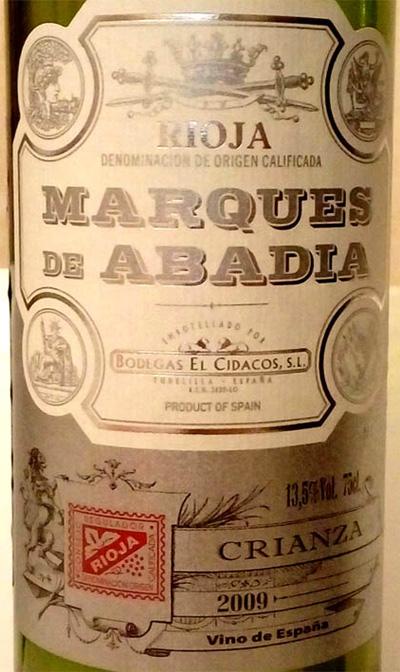 Отзыв о вине Marques de Abadia crianza 2009