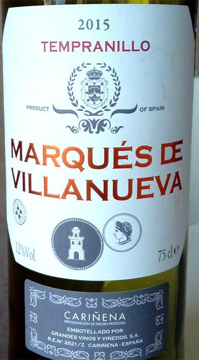Отзыв о вине Marques de Villanueva tempranillo 2015