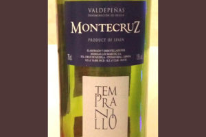 Отзыв о вине Montecruz tempranillo Valdepenas 2015