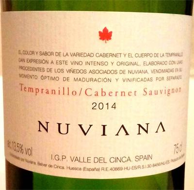 Отзыв о вине Nuviana Tempranillo-Cabernet sauvignon 2014