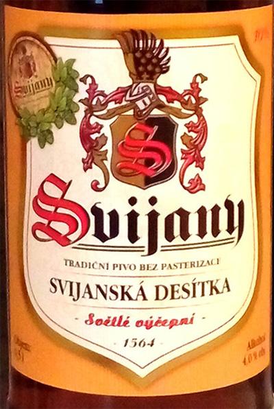 Отзыв о пиве Svijany svijanska desitka